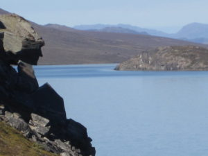 The rock face (in profile)